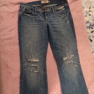 Abercrombie flare leg distressed jeans size 6